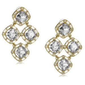 NWT Big Kate Spade Crystal Chandelier Earrings